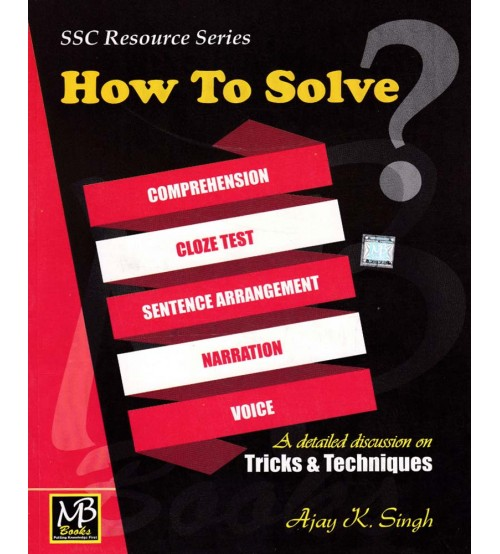 MB SSC Resource Series How to Solve, Rs. 100